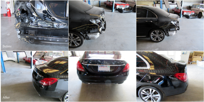 Car 1 Before and After-Mercedes